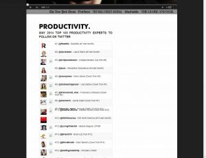 May 2014 Top 100 Productivity Experts to follow