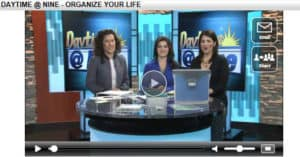 Organizing Your Life - Fox 29 Daytime At Nine Appearance