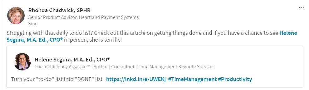 Rhonda-Chadwick-productivity-tips-Testimonial-LinkedIn-2017-04-04_7-22-10